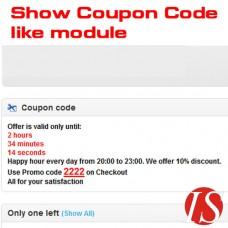 Show Coupon Code like module za OpenCart v1.5.0.x & v1.5.1.x