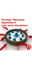 Footer Remove OpenCart info and donation (vQmod) za OpenCart 1.5.x.x